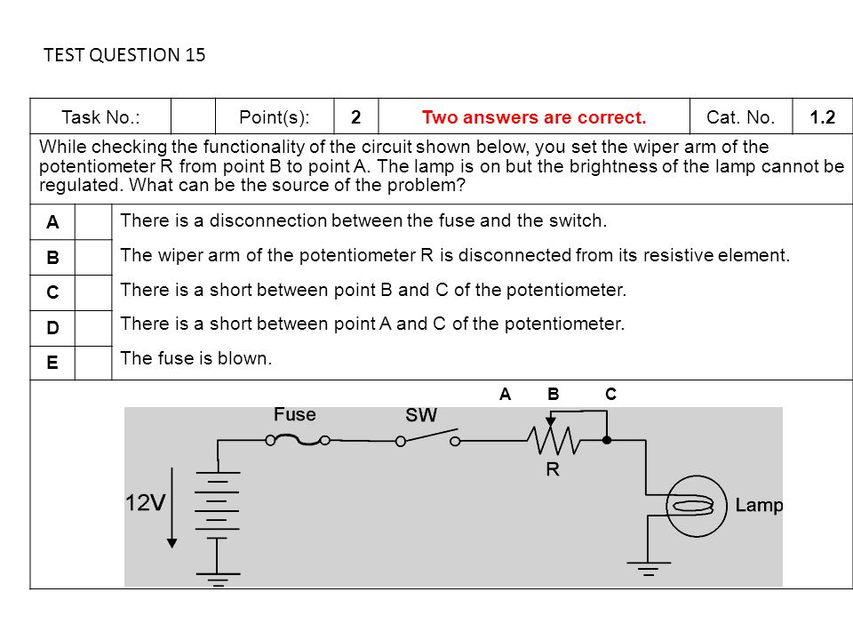 Siemens Review – Chapters 2 and 3 Potentiometers. - ppt download