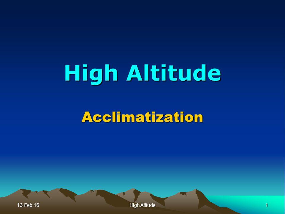 High altitude physiology.