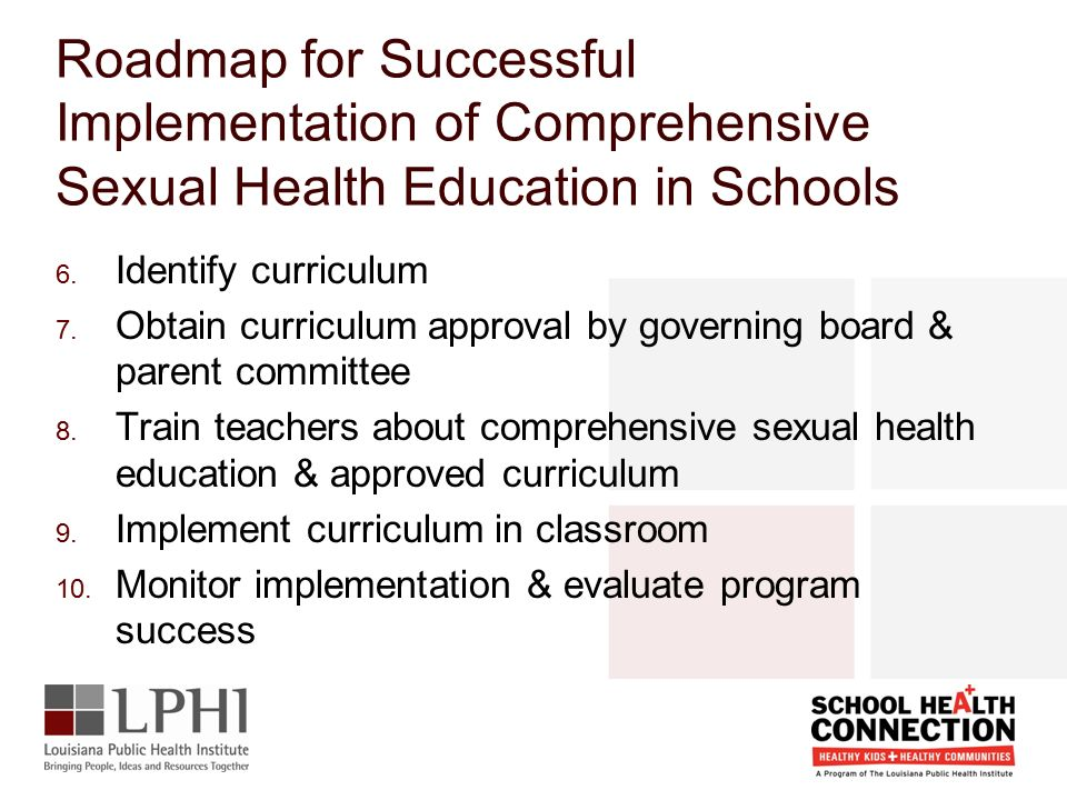 Comprehensive sexual health education curriculum