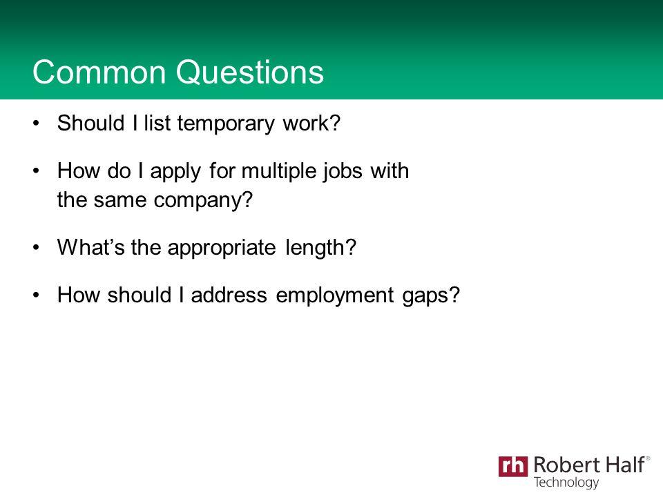 2013 Robert Half Technology An Equal Opportunity Employer All