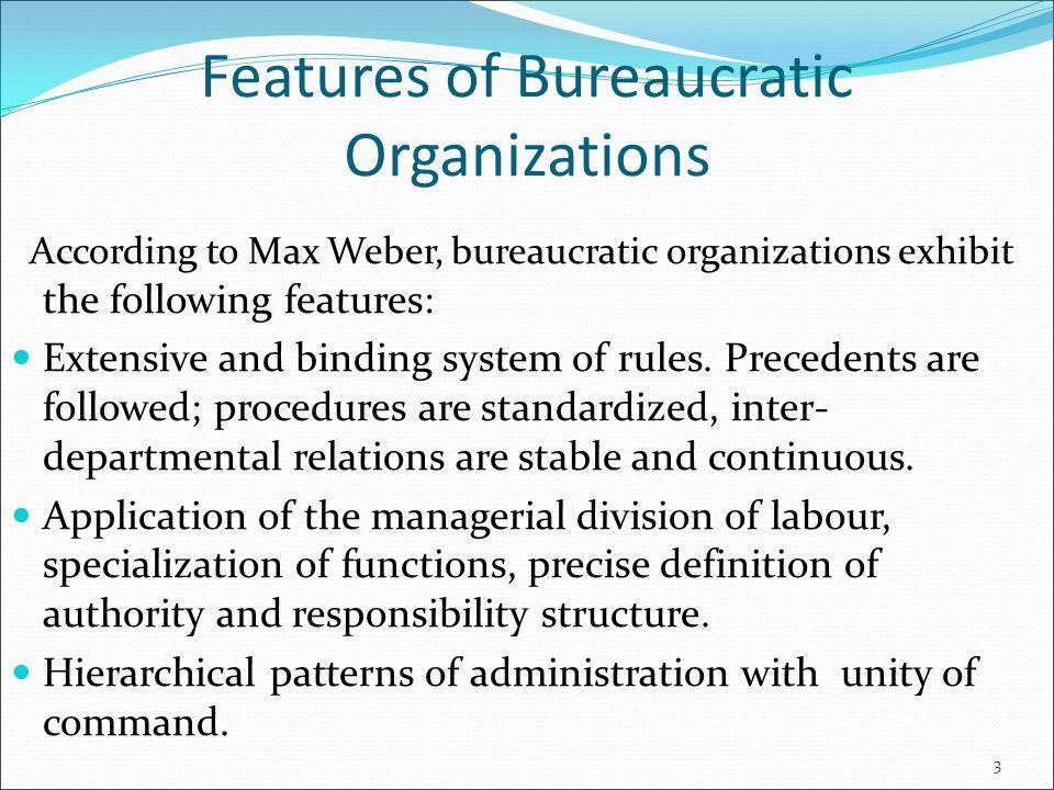 webers model of bureaucracy