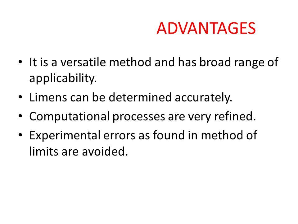 method of limits psychophysics