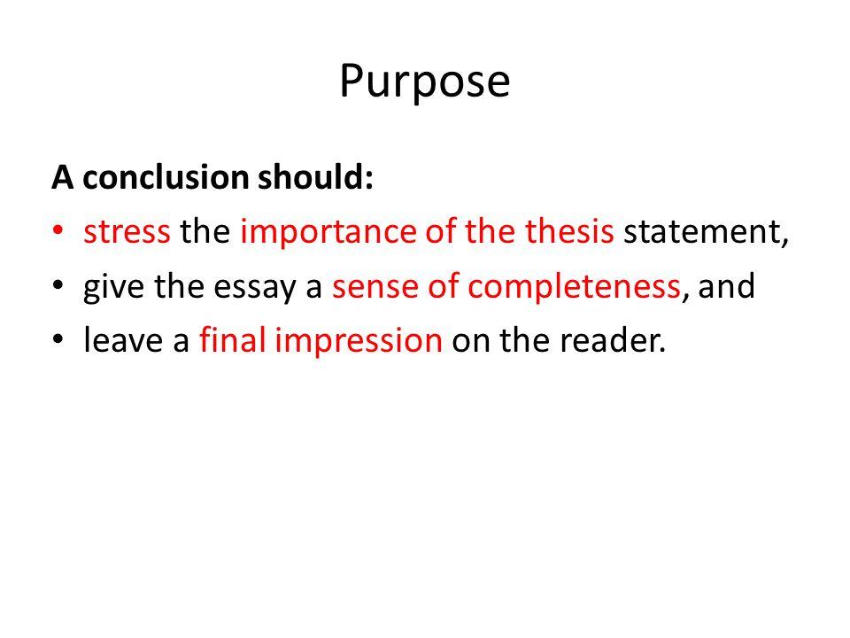 purpose of conclusion
