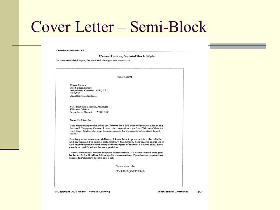 7 cover letter semi block
