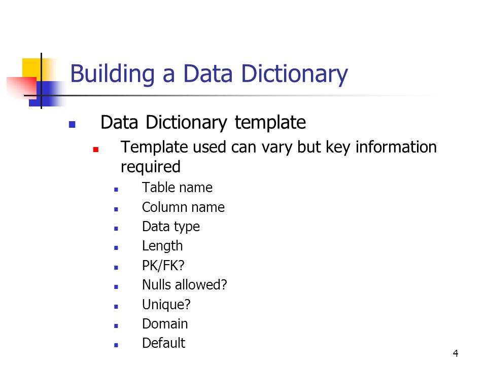Data Dictionary Template | Database Design Principles Lecture Data Dictionary Ppt Download