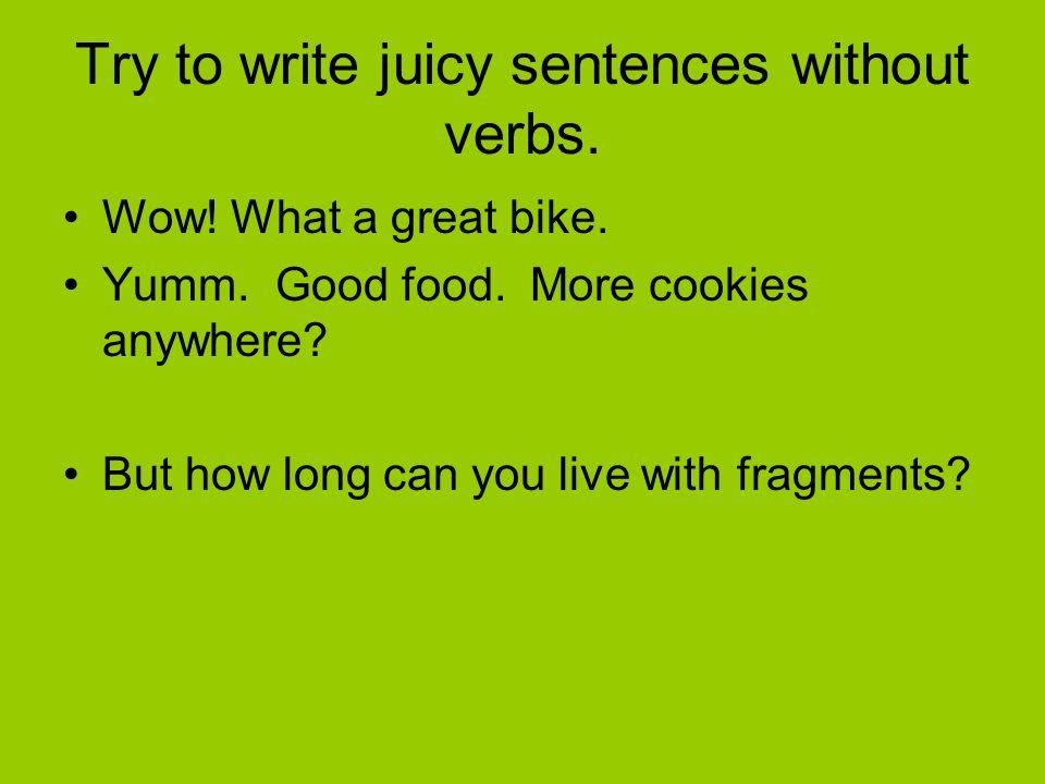 sentences without main verb