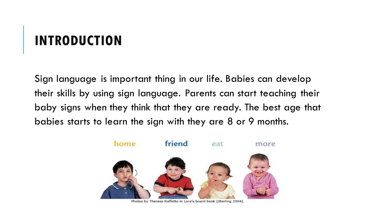 Baby Sign Language Research Project Haya Al Hajri H Ppt Download