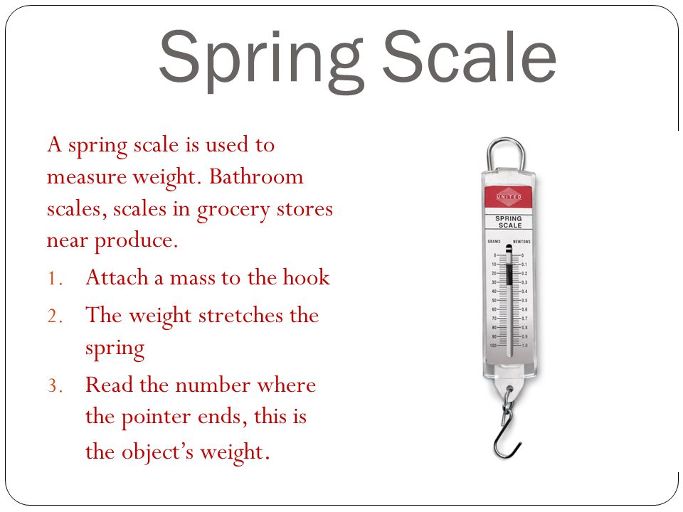 Spring Scale A Is Used To Measure Weight