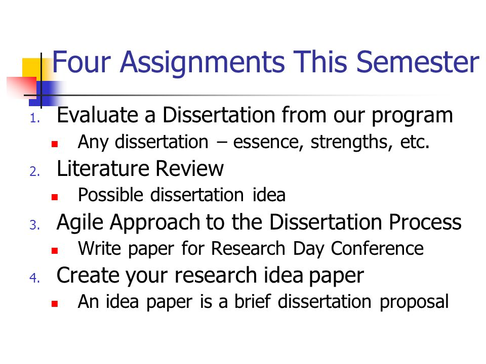 writing the evaluation dissertation To evaluate your own work, you need to set it against the backdrop of other research in your field step away from your dissertation and ask yourself: what do they provide assistance with writing, but are not in the business of correcting the errors in a dissertation they tend to confine themselves to the.