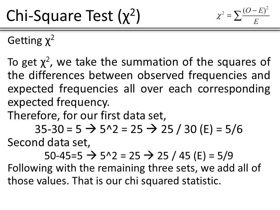 Chi Square Test 2 Greek Symbol Chi Chi Square Test 2