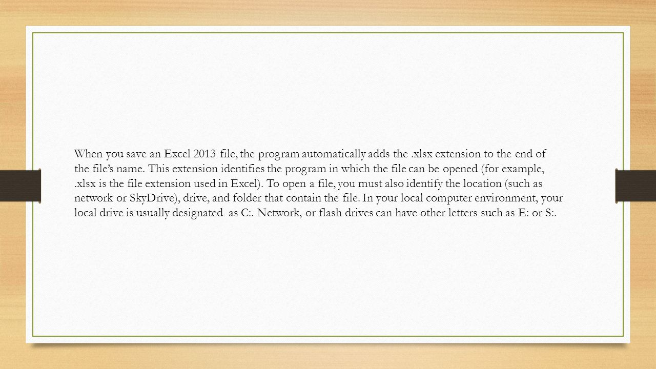 MS Excel Lesson 1. Starting Excel Excel opens to a list of ...