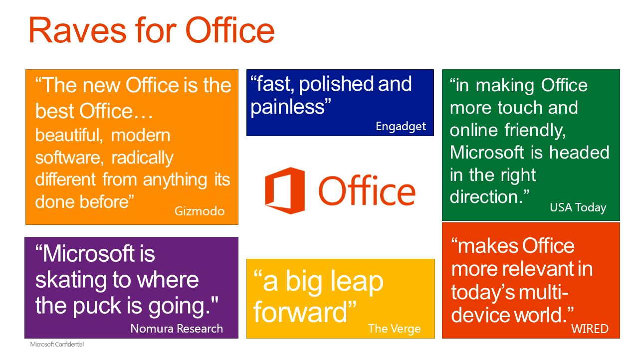 microsoft confidential industry trends the new office demo new
