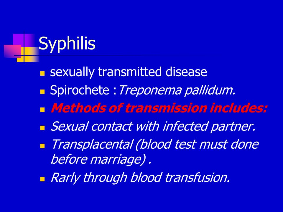 Spirochetal sexually transmitted diseases