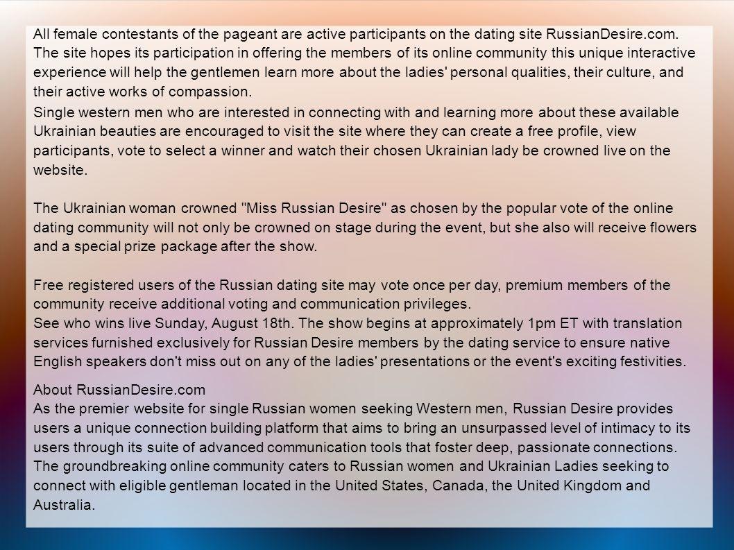 Russian Desire to Stream Live Beautiful Single Ukraine Women
