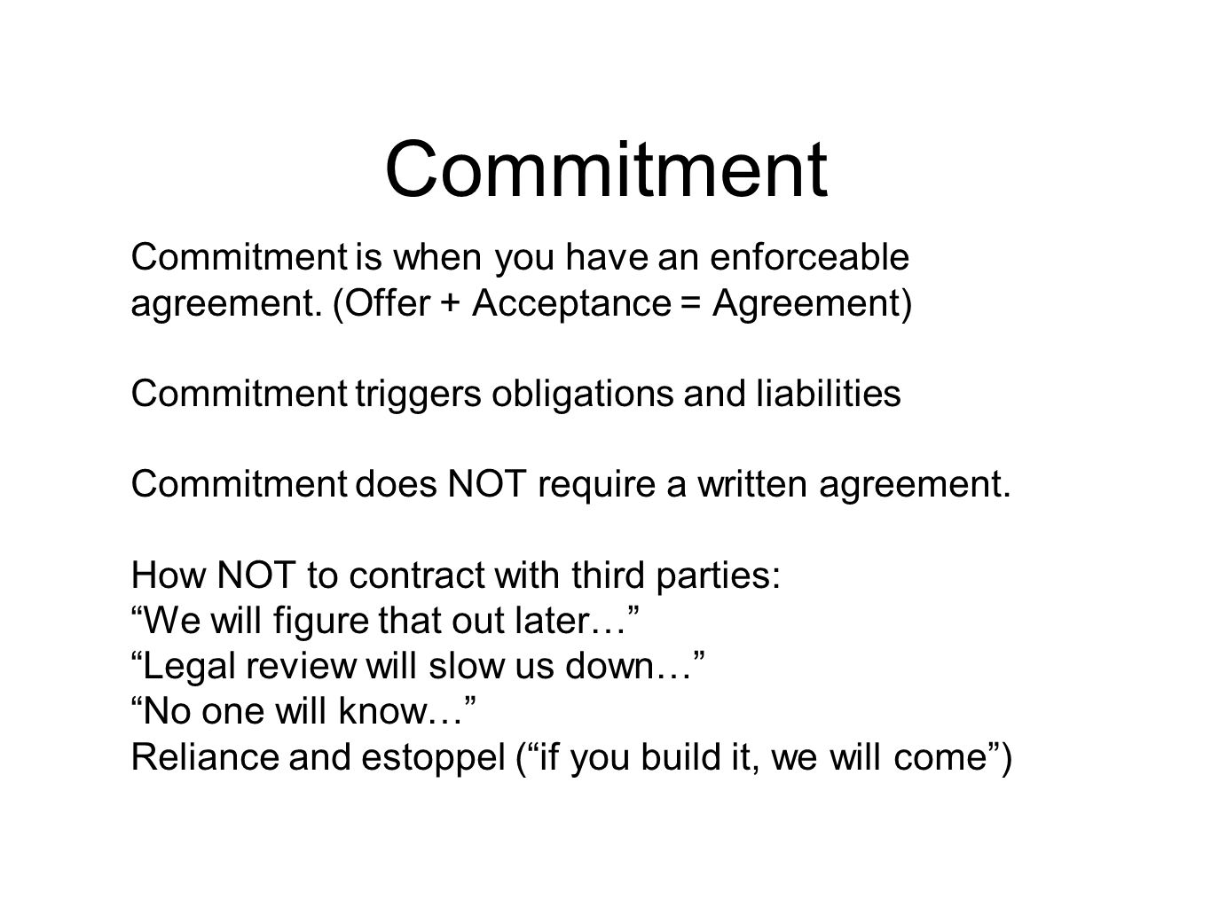 Working With Third Parties Agreements And Issues Ppt Download