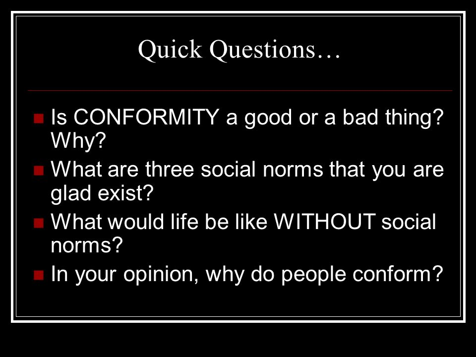 three reasons why people conform