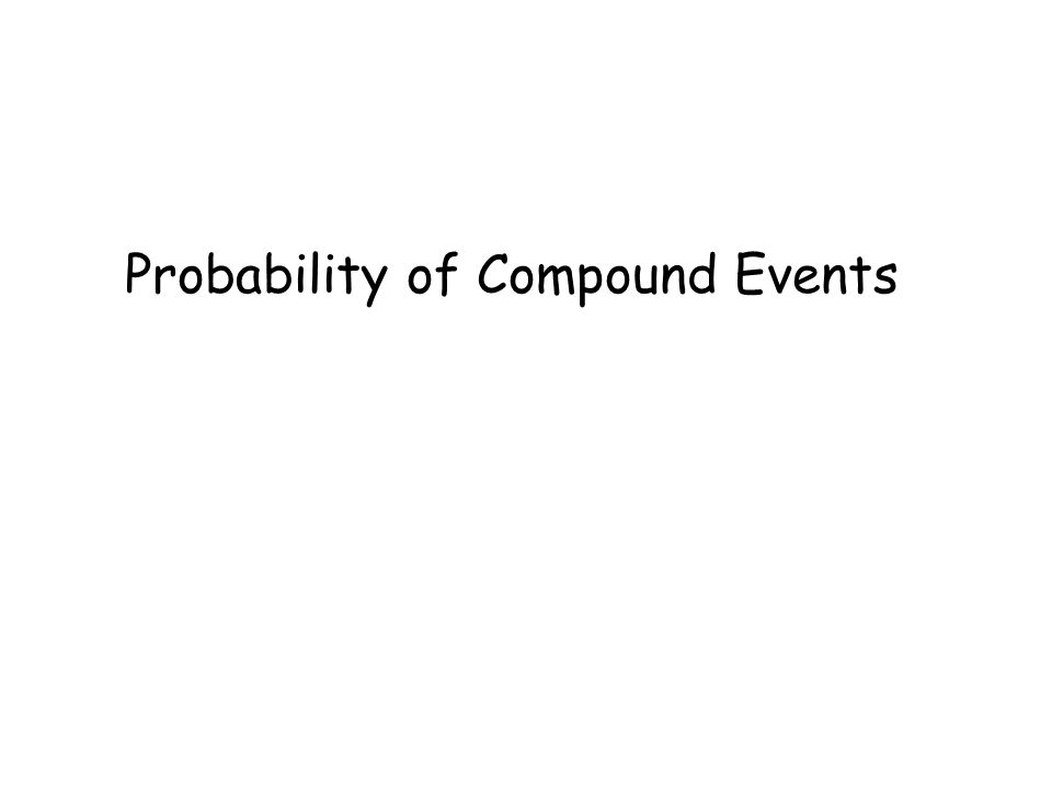 probability of compound events compound event combines two or more