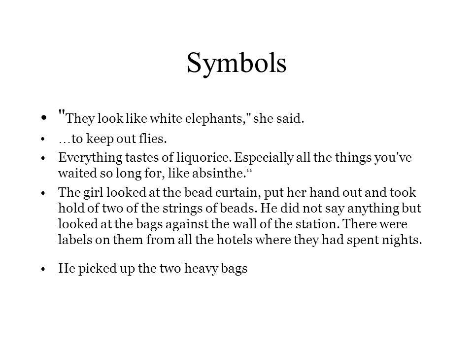 hills like white elephants explanation