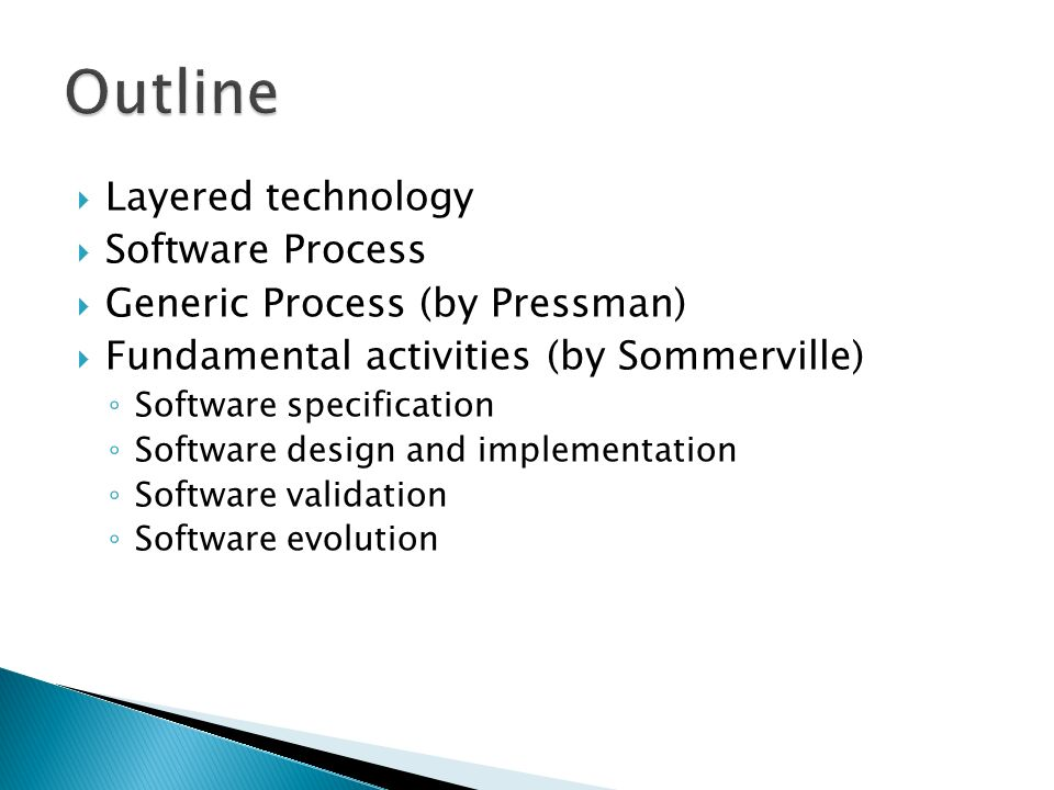 Pi2134 Software Engineering It Telkom Layered Technology Software Process Generic Process By Pressman Fundamental Activities By Sommerville Ppt Download