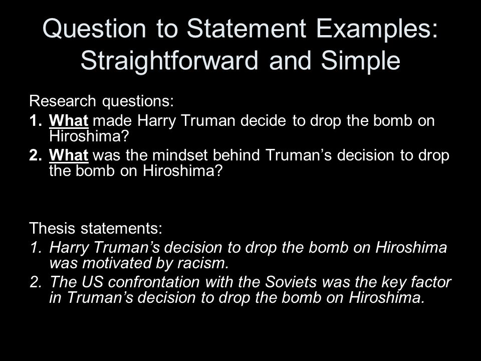 Thesis Statements In History Examples Adapted From University Of Mary  Washington History And American Studies. - Ppt Download