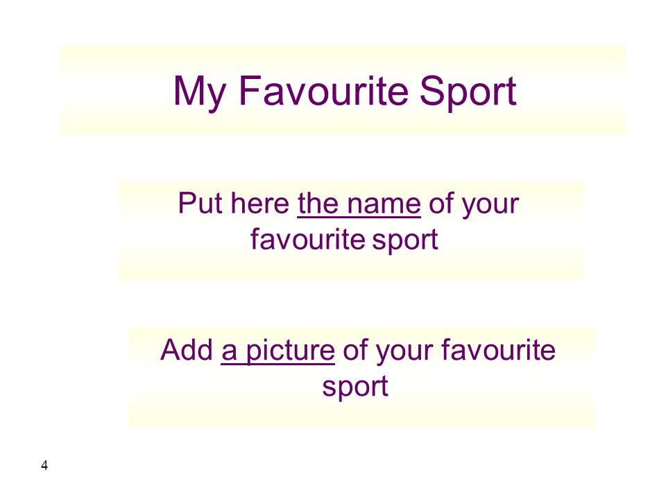 short paragraph about sport