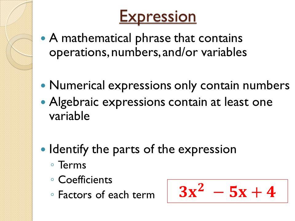 Algebraic terms
