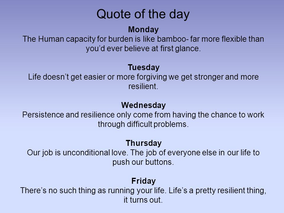 2 Quote Of The Day Monday