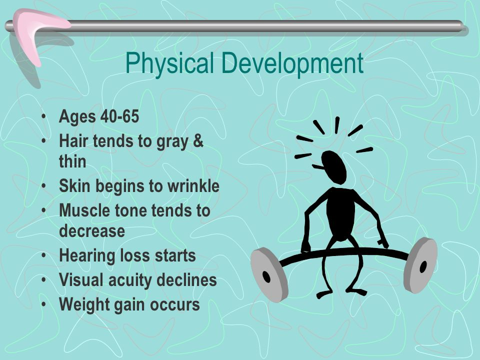 adults development aged Middle physical