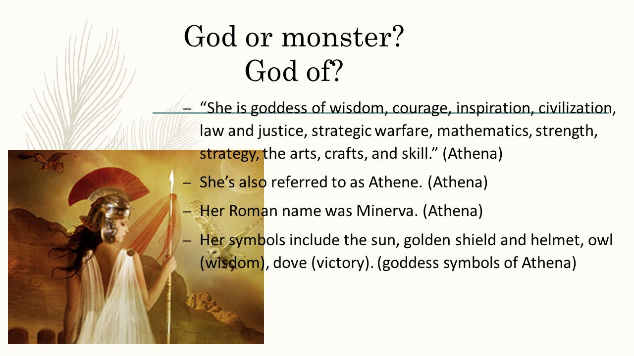 Athena By Me Abigail Clark God Or Monster God Of She Is