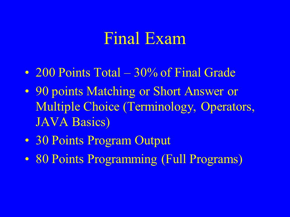 Announcements Final Exam: TBD  Static Variables and Methods