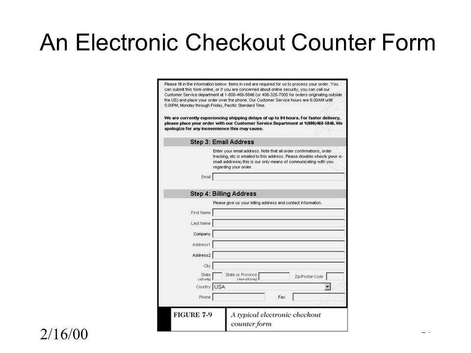 2/16/00 24 An Electronic Checkout Counter Form