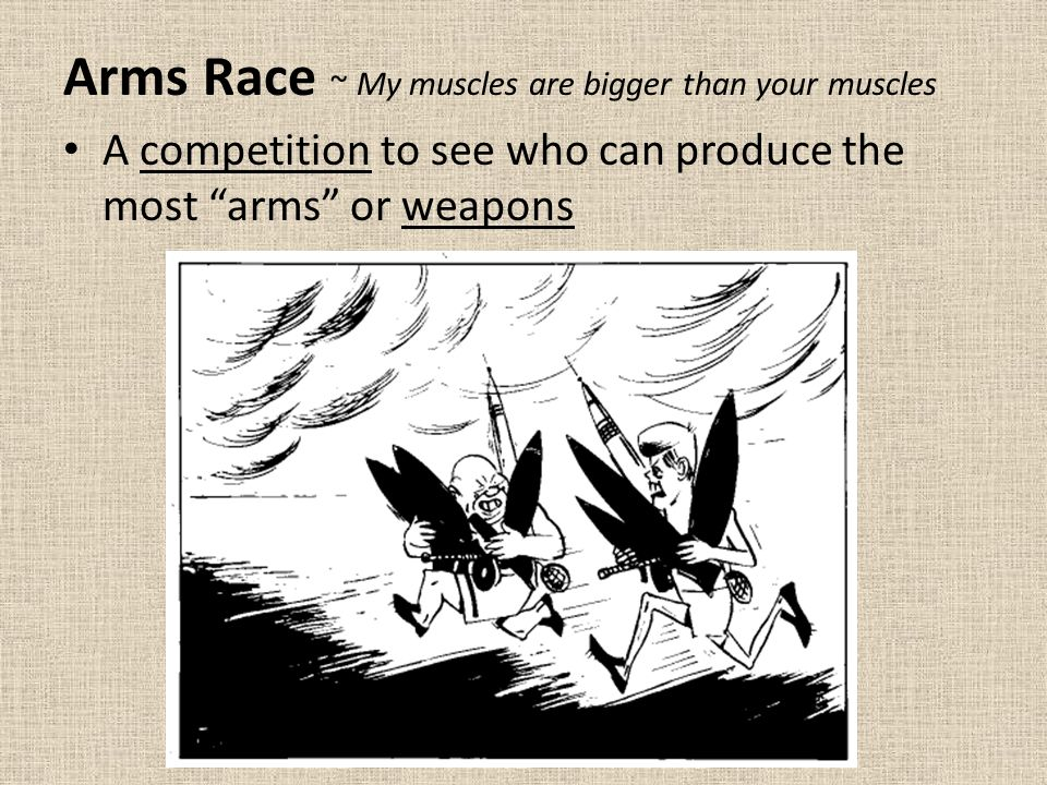 what is the arms race ww1
