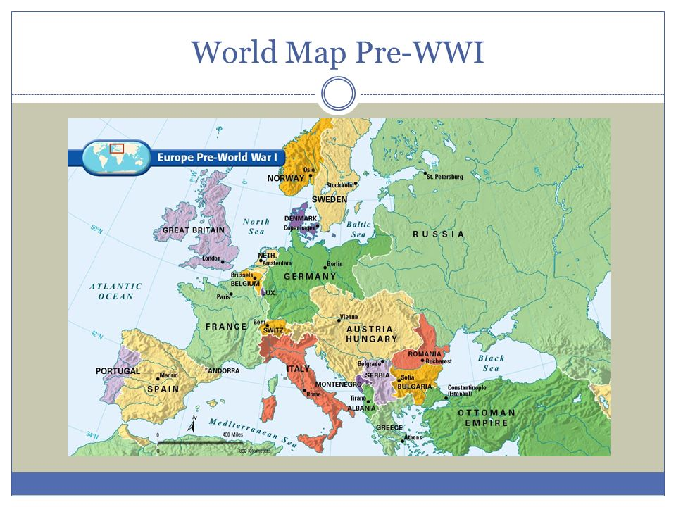 World War I Section 1 World Map Pre Wwi Europe In Early 1900s No