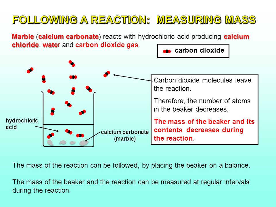 what does calcium carbonate and hydrochloric acid make