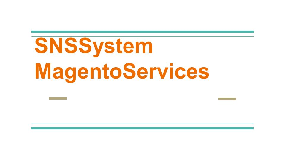 SNSSystem MagentoServices  About Us SNS System is a global