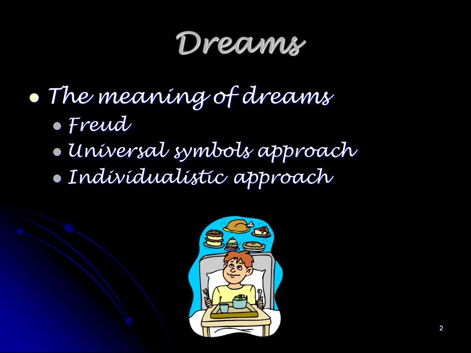 1 Dreams And Hobbies 2 Dreams The Meaning Of Dreams The Meaning Of