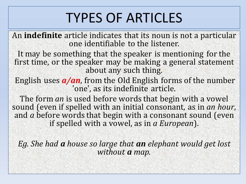 what is articles