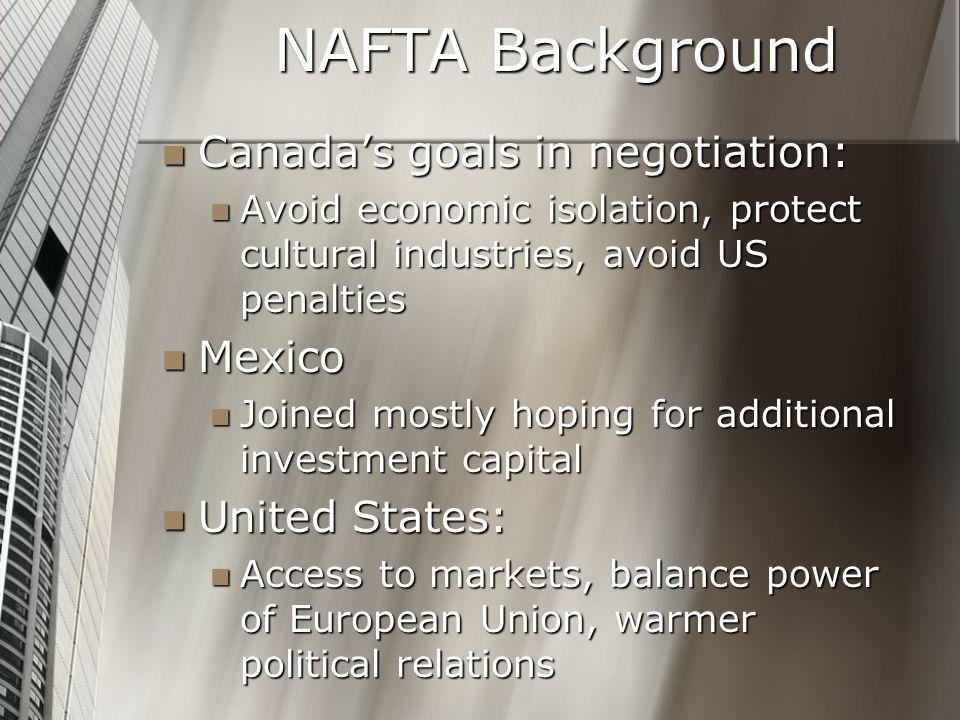 Nafta North American Free Trade Agreement Nafta Background Nafta
