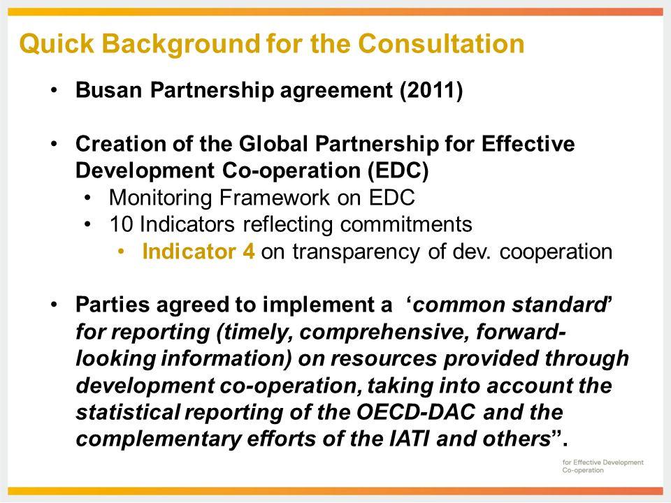 5 April 2013 Indicator 4 On Transparency Consultation Iati Steering