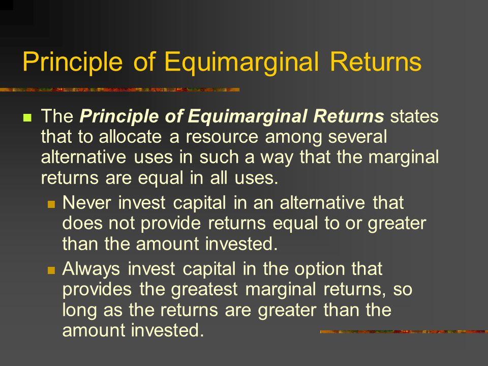 equi marginal returns