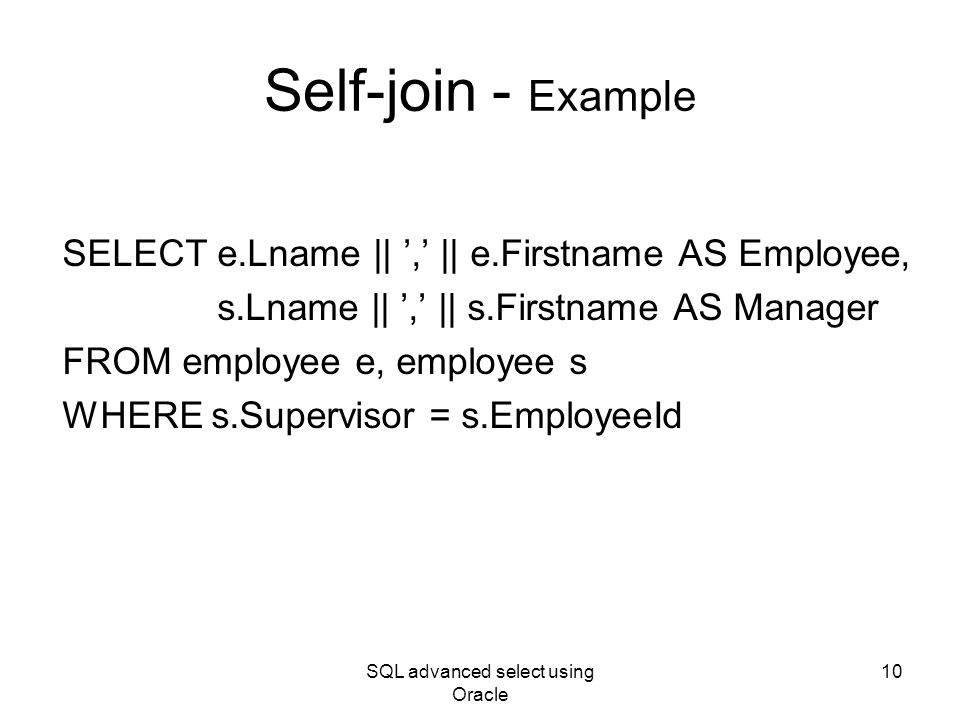 Sql server self join by practical examples.