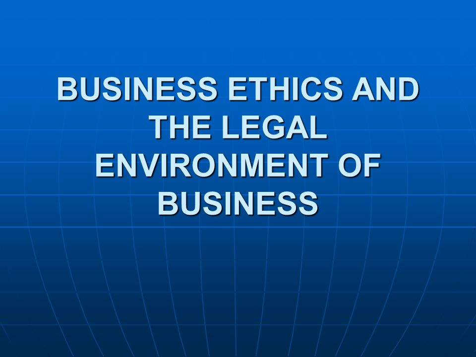 ethics and legal environment essay Academiaedu is a platform for academics to share research papers.