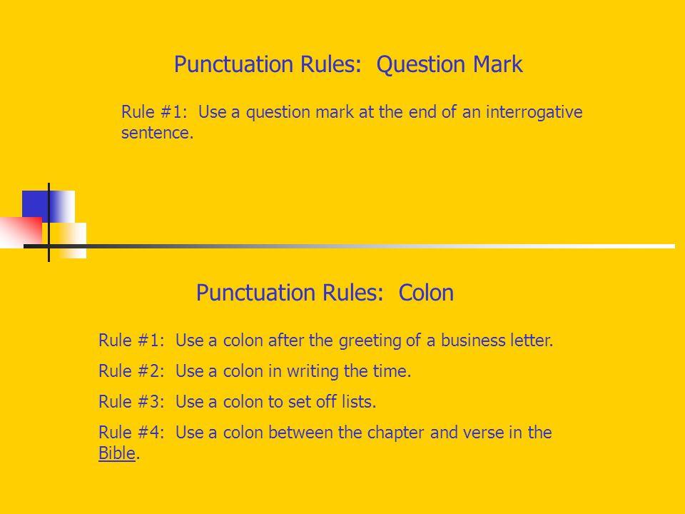 Punctuation Rules Semicolon Rule 1 Use a semicolon to bine