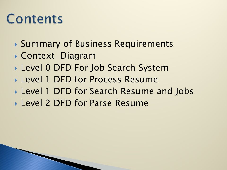 Group members sara muir eyyup gur lan cui summary of business 2 summary of business requirements context diagram level 0 dfd for job search system level 1 dfd for process resume level 1 dfd for search ccuart Image collections