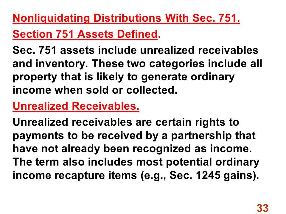 Non liquidating distribution definition