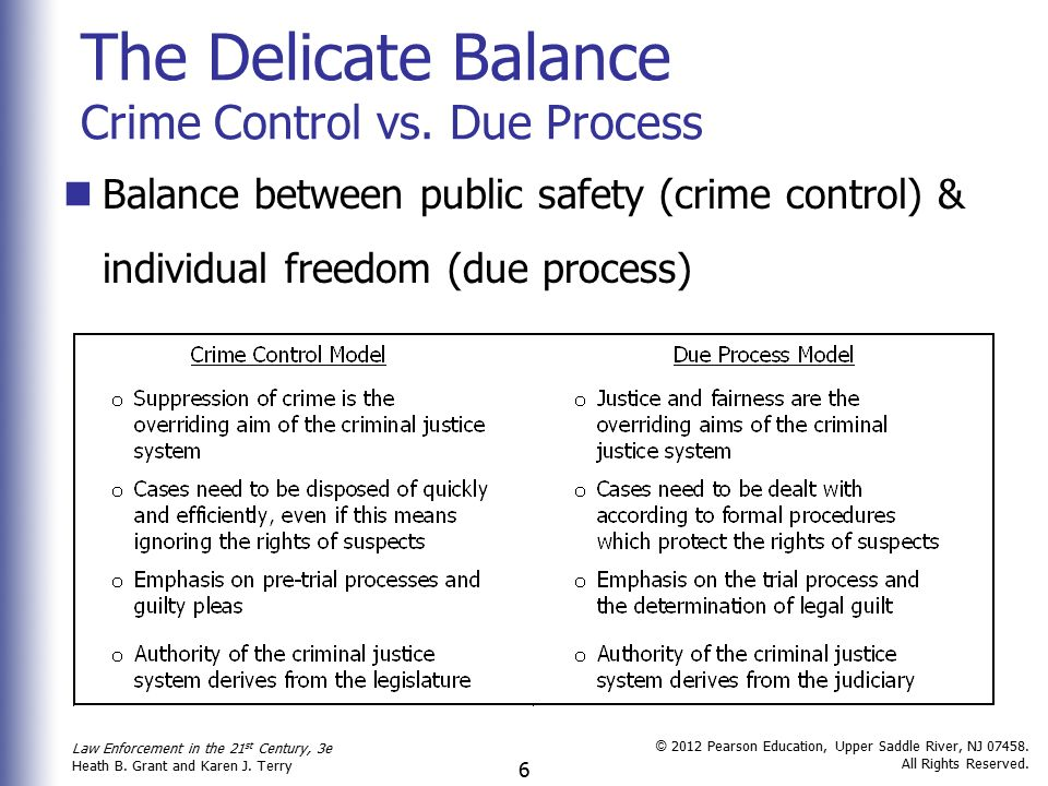 crime control model vs due process