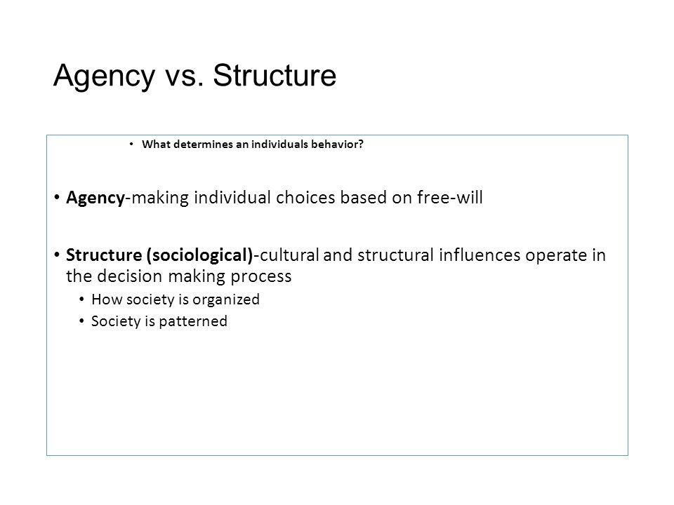 agency sociology