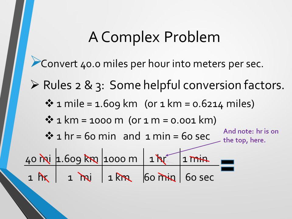 A Complex Problem  Ef 83  0 Miles Per Hour Into Meters Per Sec