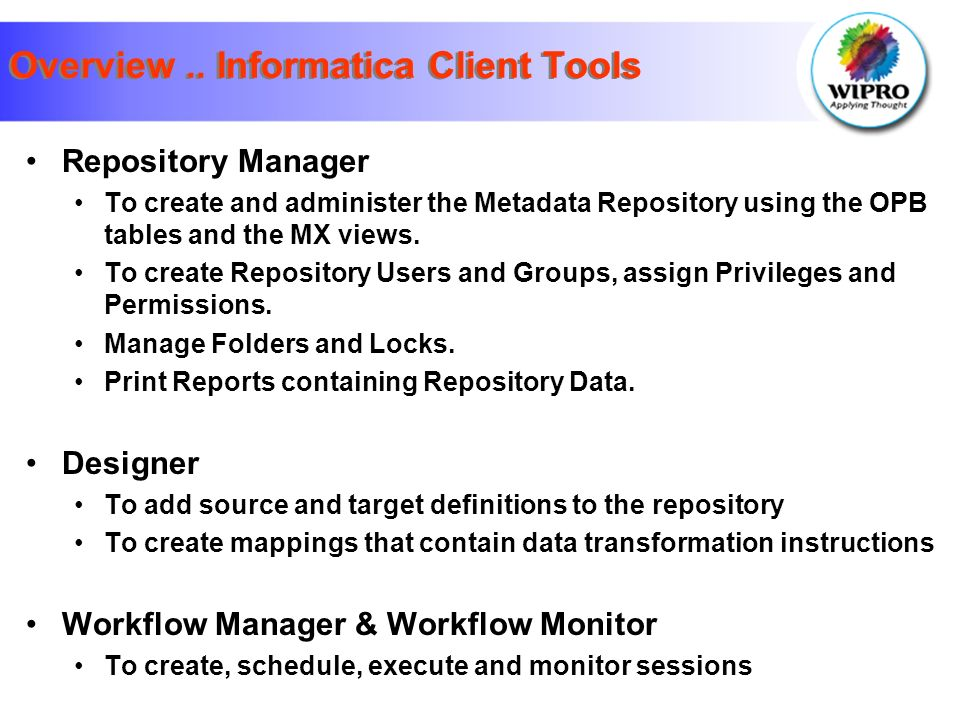 Informatica Power Center 7 1  Agenda Overview & Components