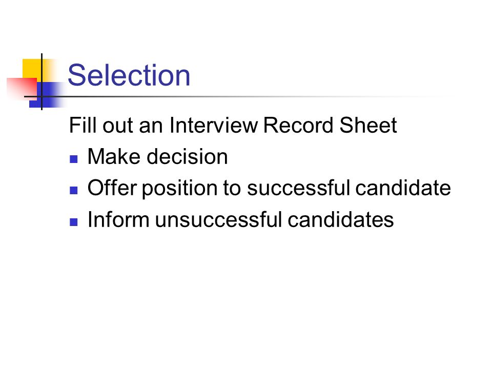 The Recruitment Process The right person for the right job  - ppt